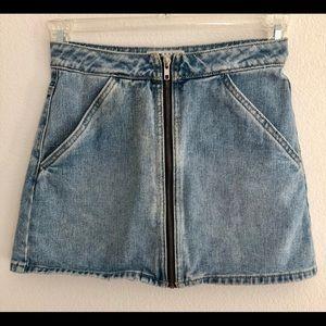 Cute denim skirt!